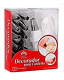 #4: Cakeware 12 Piece Cake Decorating Set Frosting Icing Piping Bag Tips with steel nozzles. Reusable & Washable.