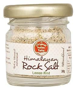 Original Indian Table Himalayan Lemon Rind Rock Salt, 30g