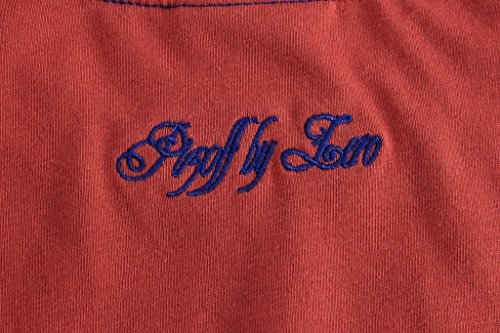Pizoff Unisex Hip Hop Urban Basic Langes T Shirts mit Tarnmuster Y1293-RedBrown
