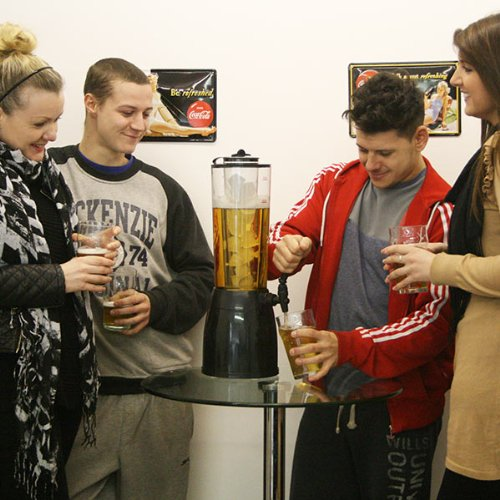 51qdUgP2V2L. SS500  - bar@drinkstuff Ice Core Beverage Dispenser | 2.5ltr Drinks Dispenser with Removable Ice Chamber