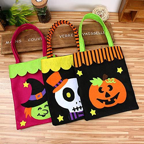 bdrsjdsb Halloween Ornamente Kinder Geschenk Kürbis Süßigkeiten Einkaufstasche Vliesstoffe Handtasche Party Decor Spinne *