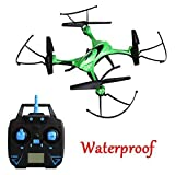 Gecoty-Waterproof-Drone-JJRC-H31-24G-4CH-6-Axis-Gyro-Resistance-To-Fall-RC-Quadcopter-With-Headless-Mode-360-Rolling-One-Key-Return-No-Camera-Green
