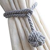 Do4U Ein Paar Hand Stricken Vorhang Seil Clips Halter Holdbacks