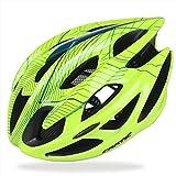 CODOMOXO - Casco de ciclismo para adulto especializado para hombres y mujeres, protección segura con casco de bicicleta de montaña, bicicleta de carretera, ajustable, color verde, tamaño Large