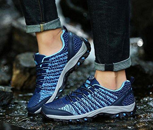 Z&HX sportsScarpe sportive autunno e invernale scarpe da trekking all'aperto scarpe sportive antisdrucciolevoli traspiranti traspiranti Blue