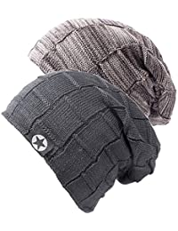 Mens Beanie Hat - Winter Warm Soft Thick Slouchy Knit Caps for Men and  Women ( 852ea3047085