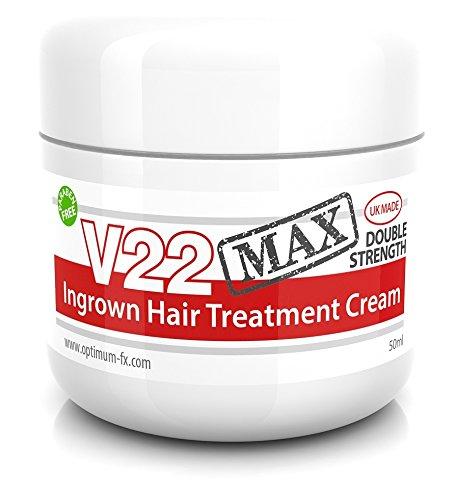V22 MAX Doppelt Wirkende Behandlungscreme Für Eingewachsene Haare ParabenFREIE - 50ml - Rasieren Eingewachsene Haare