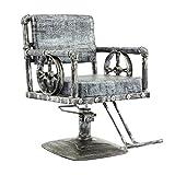 HEUFHU888 Parrucchiere Beauty Chair - Sgabello per Parrucchiere, Sedia, Sedia per Taglio Capelli in Ferro, seggiovia, Poltrona da Barbiere, Poltrona da Parrucchiere, Poltrona da Parrucchiere Vintage