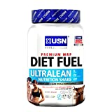 USN Diet Fuel Ultralean 1Kg Meal Replacement Shake Suppoer Weight Loss and Muscle Recovery (Strawberry) from USN