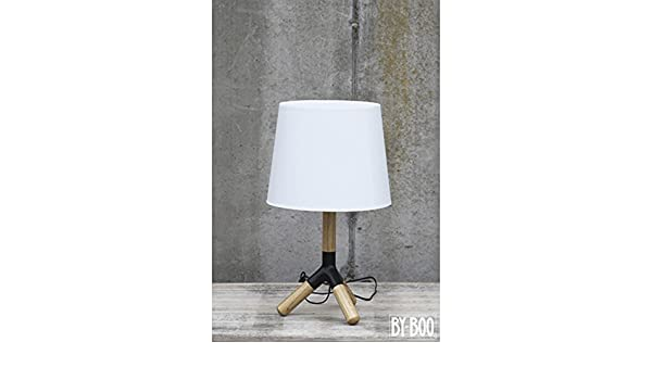 By Boo Lampen : Tischlampe holz dreibein leuchte leselampe lampe tischleuchte schirm
