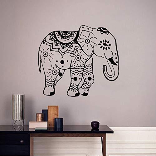 Elefante Tatuajes de Pared Elefantes Indios Loto Vinilo Calcomanía Etiqueta Animales Diseño...