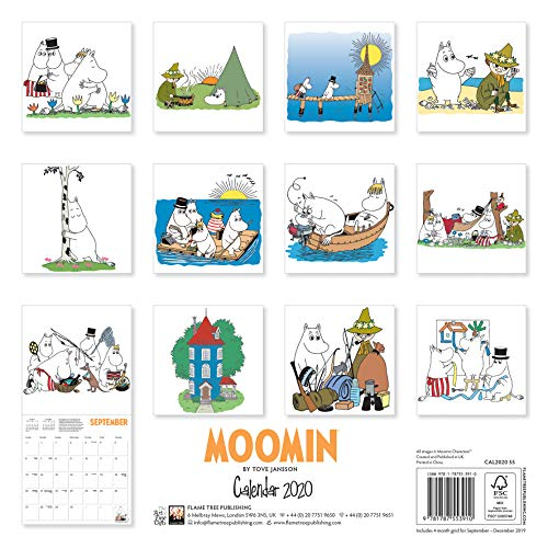 Moomin - Mumins 2020: Original Flame Tree Publishing-Kalender [Kalender] (Wall-Kalender): Alle Infos bei Amazon