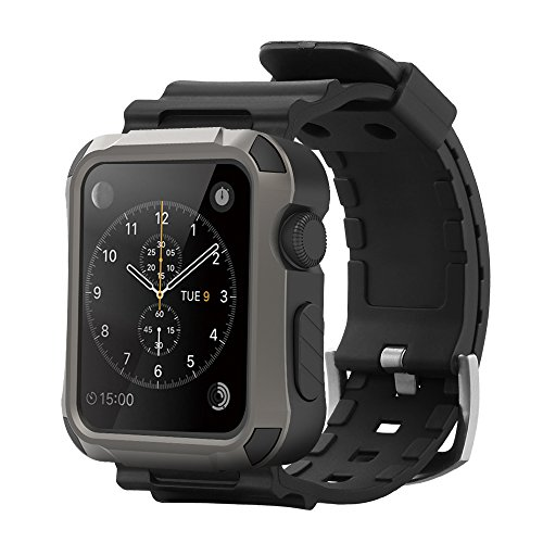 Simpeak Funda Carcasa para Apple Watch 42mm Casas [3D táctil compatible] con Correa
