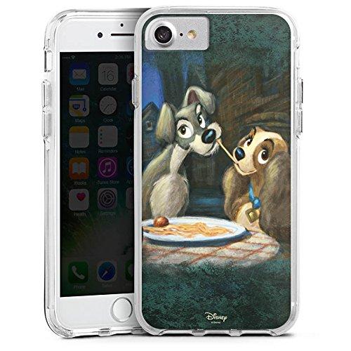 Apple iPhone X Bumper Hülle Bumper Case Glitzer Hülle Disney Susi & Strolch Fanartikel Merchandise Bumper Case transparent