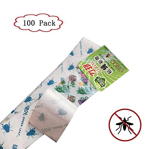 HUFFNUOP Fliegenschnäpper, insektizidfreier Kleber, Weiße Fliegen, gefleckte Fliegen, Trauermücken und Flügelblätter und Balkonpflanzen, 100 Stück
