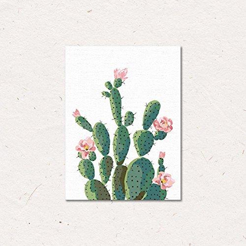 chezmax Wand Art Oil Painting auf Leinwand print Artwork Bilder für Home Decor Grün tropischen Pflanzen, cactus, without frame 11.8