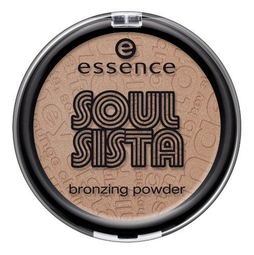 Essence SOUL SISTA - Bronzing Powder - Nr. 01 Shake Your Booty Inhalt: 11g Bronzing Puder verleiht dem Gesicht oder Körper eine natürliche Bräune. (Braune Booties)