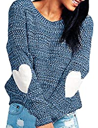d81e04e74d H E Women Round Neck Stylish Pullover Thick Knitted Long-Sleeve Sweaters