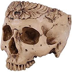 rosenice humanos maceta contenedor de calavera resina réplica de calavera Halloween Decoración para el hogar
