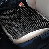 LPY-Auto Sitzkissen, Auto Sitzbezüge Breathable Bequeme Auto Kissen, Anti-Rutsch Leder Vier Jahreszeiten General Autositz Schutz , Black