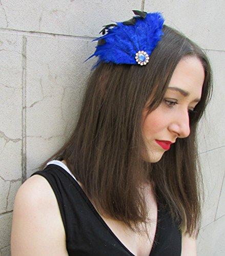 Noir plumes Bleu Argenté Vintage + bandeau cheveux clip Races net Y82 * * * * * * * * exclusivement vendu par – Beauté * * * * * * * *