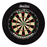 Kings Dart Dart-Set Profi | Turnier-Dartscheibe + Dart-Surround | Sisalborsten, Spider-Feldbegrenzung | Sicherheit...