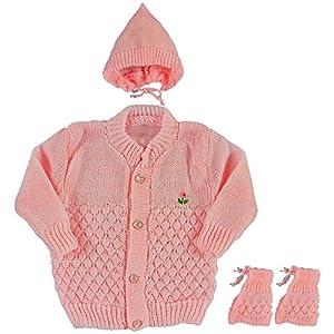 Montu Bunty Woollen Knitted Baby Sweater (0-6 Months)