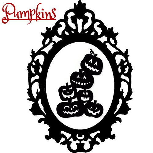 Halloween Gothic Pumpkins Kürbisse Silhouette Sticker Aufkleber Wall Window Home Vinyl Abziehbild Decal