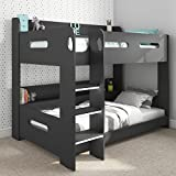 Sky Bunk Bed in Dark Grey - Ladder Can Be Fitted Either Side!