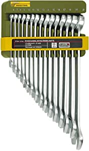 Proxxon 23821 Slim Line Ring-Maulschlüsselsatz, 15-teilig, 6-21 mm
