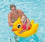 #8: Inflatable Kiddie Swim Pool Water Float Tube Ring for Kids sitting rider - Duck