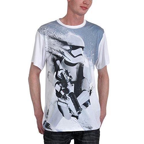 Star Wars 7 T-Shirt Stormtrooper Snowtrooper T-Shirt weiß Baumwolle S-XXL Weiß