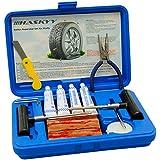 45 pièces PROFESSIONNEL Réparation de pneus Kit VÉHICULE PERSONNEL Set de dépannage Unités de vulcanisation Rayures Moto Kit de réparation