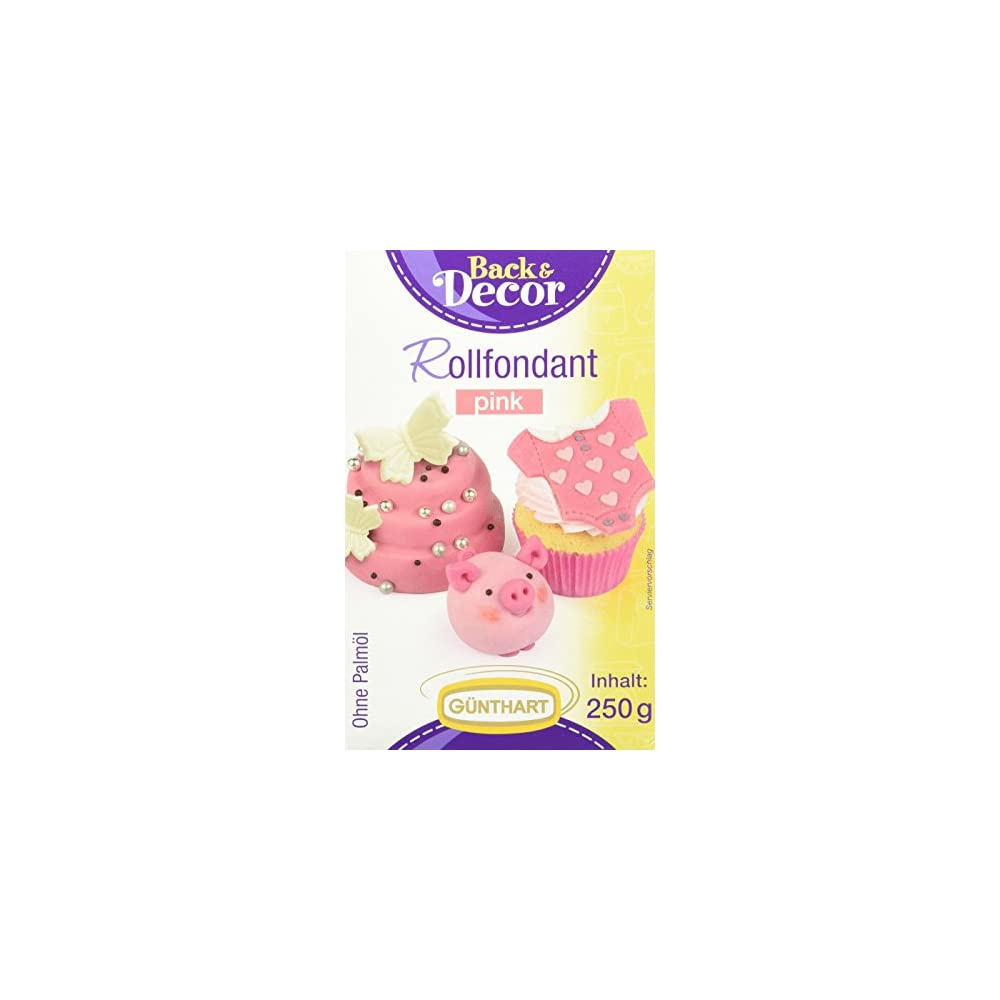 Gnthart Rollfondant Pink Palml Frei Azo Frei 4 X 250 G 1er Pack 1 X 1 Kg
