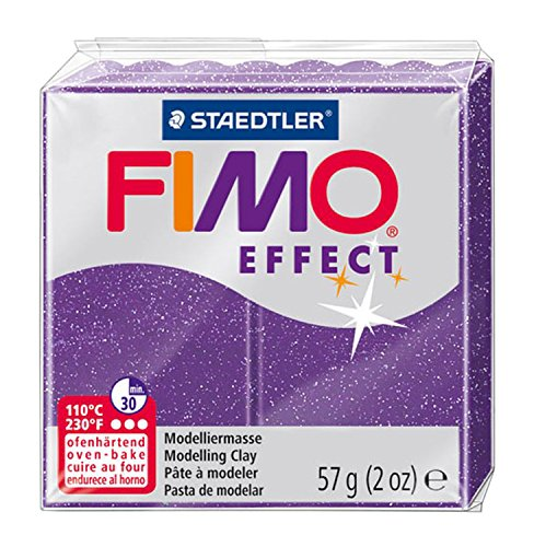 Staedtler - Fimo Effect - Pain Pâte à Modeler 57 g Effet Pailleté Violet