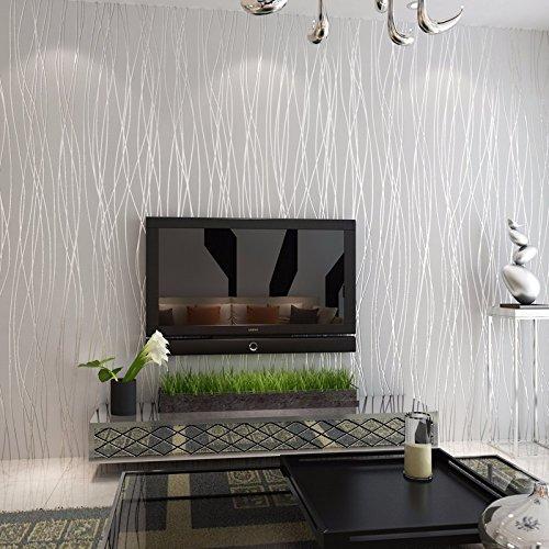 bizhi-papier-peint-contemporain-art-deco-couvrant-sticker-papier-non-tissegris-argente