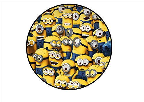 Minions Edible PREMIUM THICKNESS SWEETENED VANILLA, Wafer Rice Paper 7 Cake Toppers/Decorations (Option 2) by Cian's Cupcake Toppers Ltd