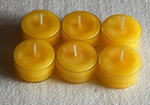 6x hecho a mano muy aromática de cera velas de té.... (fragancias T-Z)