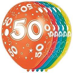 Idea Regalo - Palloncini festa di compleanno 50 anni - 5 pezzi