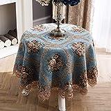 LSJT Runder Tischdecke Runder Tisch Tischdecke Stoff Tischdecke Tischdecke Couchtisch Tischdecke Runde (Farbe : A, größe : 120cm)
