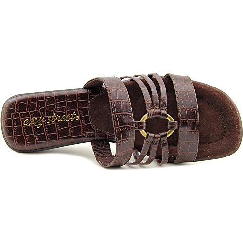 Easy Street Scorch étroit Synthétique Sandale Brown Croco