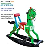 CRAFT HOUSE Wooden Rocking Horses (Green)