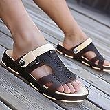 fankou der Halbe gezogen Sandalen für Herren Sommer Atmungsaktiv Baotou Bohrung Schuhe Badeschuhe Strand Schuhe, Spielen im Wasser Reisen Hausschuhe, 41, d-Braun