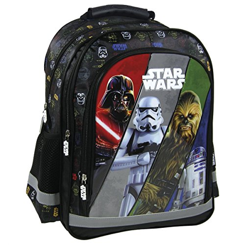 Star Wars grand sac a dos cartable école loisirs extrascolaires sport Darth Vader, Chewbacca, R2D2, Stormtropper