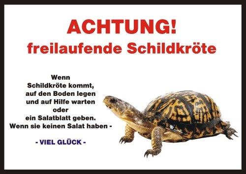 INDIGOS UG Türschild FunSchild - Schildkröte - für Käfig, Zwinger, Haustier, Tür, Tier, Aquarium - DIN A4 PVC 3mm stabil