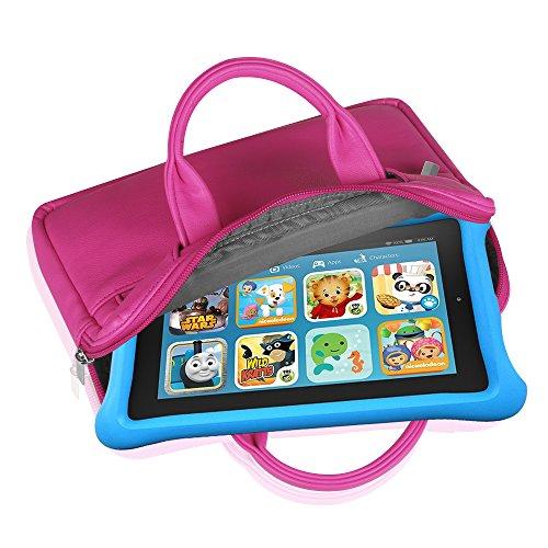 Fintie Universel 6-8 pouces Housse, Étui Case Sacoche en avec poignée Pour Tablette PC Enfant, Fire Kids Edition, Amazon FreeTime Kid-Proof, Fire HD 6/ HD 7/ HD 8/ HDX 7/ Fire 7, Kindle Oasis (Child's Pourpre