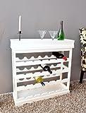 Weinregal Weiß für 24 Flaschen Flaschenregal weißes Holz Wein Regal Board - 3