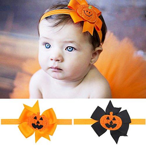 (Rot Simi 2pcshalloween Party Baby Haarband Zubehör Kürbis Elastic mit Kopfbedeckungen für Kleinkinder und Infant)