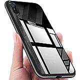 Coque iPhone X, KKtick iPhone X Housse Etui de Protection avec l'Absorption du choc anti-rayure Case Ultra Fine Premium Silicone TPU Bumper Dur PC Couverture Cover pour iPhone X -( Noir)