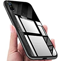 KKtick Funda iPhone X, Funda Carcasa Bumper Case iPhone X [ Ultra Slim ] Silicona Gel TPU Shock-Absorción y Anti-Arañazos Espalda Case Cover para Apple iPhone X- Negro